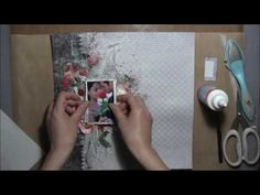 ''Happiness'' - Mixed Media Layout Tutorial for ''My Creative Scrapbook'' - YouTube