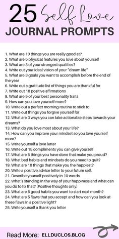 25 journal prompts for self love and confidence building! How to love yourself again through journaling. A self love journey. love journal 25 Journal Prompts for Self-Love and Confidence Building Vie Positive, Positive Affirmations, Journal Questions, Vie Motivation, Therapy Journal, Mental Health Journal, Love Journal, How To Journal, Happy Journal
