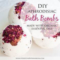 How to Make Fizzing Bath Bombs with Aphrodisiac Essential OIls Essential Oil Aphrodisiac, Organic Essential Oils, Bath Bomb Recipes, Soap Recipes, Fizzing Bath Bombs, Organic Bath Bombs, Homemade Bath Bombs, Lush Bath, Homemade Beauty