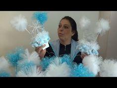 Enfeite de centro de mesa Frozen - YouTube