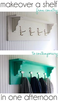 The Shabby Creek Cottage | Decorating | Craft Ideas | DIY: Makeover a shelf in an afternoon