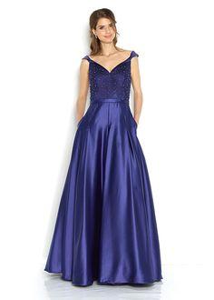 036c257cda1c Společenské modré šaty se zdobeným živůtkem Jora Damaris