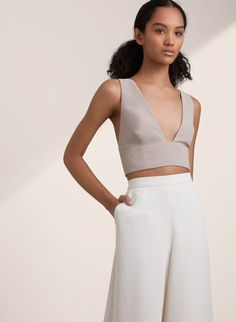 in wine for high waisted GERLAND TOP | Aritzia