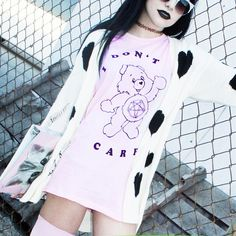 i don't care bear Pastel Goth Fashion, Kawaii Fashion, Cute Fashion, Girl Fashion, Fashion Outfits, Nikki Lipstick, Harajuku, Skinny Fashion, Star Wars Outfits