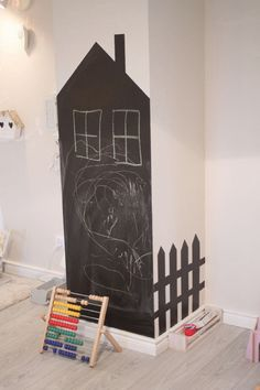 mommo design: HOUSES - chalkboard