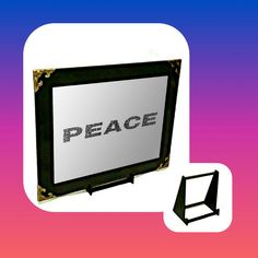 Peace Engraved Mirror Only Wall Hanger, Adhesive, Peace, Mirror, Gifts, Stuff To Buy, Presents, Mirrors, Favors