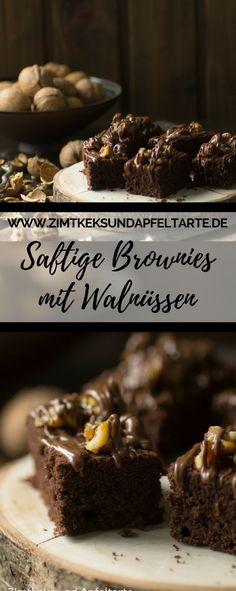 Einfaches Rezept für leckere und saftige Brownies mit Walnüssen