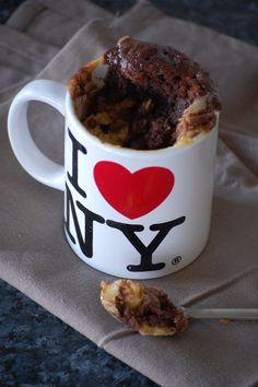 Mug cake marbré au nutella