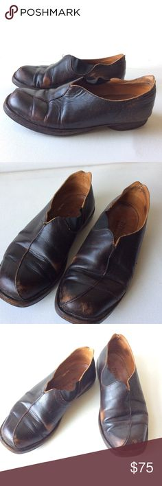 CYDWOQ brown leather slip on flat shoes 38.5 8.5 9 CYDWOQ brown flats in a size 38.5. Should fit 8.5-9 on the wider side. Handmade in the 🇺🇸, some usage, broken in wear, cydwoq Shoes Flats & Loafers
