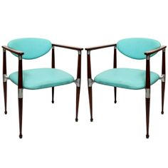 A Pair of 1950's Modernist Chairs signed Crucible Products | From a unique collection of antique and modern side chairs at http://www.1stdibs.com/furniture/seating/side-chairs/