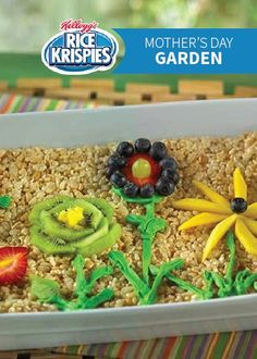 What better way to celebrate Mother's Day than by creating a beautiful Rice Krispies Treats® garden using an array of your favorite colorful and delicious fruit!