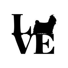 Adesivo Love Shih Tzu Shitzu Cachorro | QUEEN INDÚSTRIA DE ADESIVOS | Elo7
