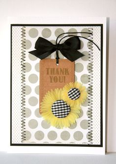 Thank You Handmade Card by SusanTracie on Etsy