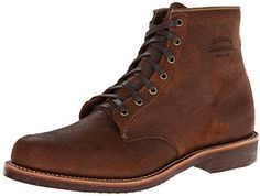 $141, Brown Suede Boots: Chippewa 1901m84 6 In Service Boot Brown Bomber. Sold by Amazon.com. Click for more info: https://lookastic.com/men/shop_items/317506/redirect