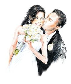 An internationally published wedding painter, and illustratior. Rosemary Fanti creates live wedding, event, fashion illustrations and paintings. Wedding Drawing, Wedding Art, Wedding Album, Wedding Images, Wedding Pictures, Wedding Illustration, Wedding Prints, Wedding Topper, Flower Fairies