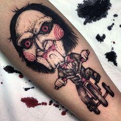 Jigsaw tattoo by 임휘진