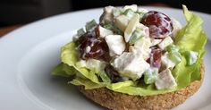 A Quick Lunch You'll Love: Low-Cal Chicken Salad. I do this without the yogurt and put honey, grapes and almonds