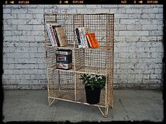Vintage Shelving Unit   Industrial Chic Bookcase   Retro Storage Solutions