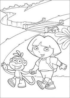 coloring page Dora the Explorer - Dora the Explorer