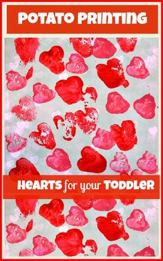Valentine art with potatoes.  Visit pinterest.com/arktherapeutic for more fun food and #feedingtherapy ideas