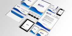 Free Brand Identity Template Illustrator is A clean, High-quality print ready, blue corporate identity Stationery package templates.