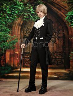 ロリータ衣装,王子 ゴシック 貴族 コスプレ 仮装 高品質
