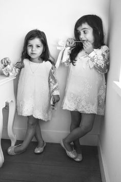 Delphine Manivet bridesmaid dresses - Wedding Day Pins : You're Source for Wedding Pins! Cute Flower Girl Dresses, Lace Flower Girls, Girls Dresses, Delphine Manivet, Cooler Look, Bridesmaid Dresses, Wedding Dresses, Bridesmaids, Lace Dresses