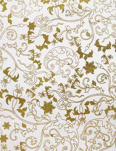 "Lamali Gold ""Blossom"" Paper on Natural"