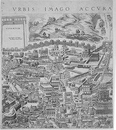 "Pirro Ligorio's ""Antiquae Urbis Romae Imago"" (Image of the Ancient. Ancient Ruins, Ancient Rome, Rome Map, Greek History, Greece, Socks, Jerusalem, Antiques, City"