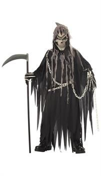 Mr. Grim Reaper Glow In The Dark Scary Child Costume - PartyBell.com