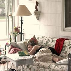 I have somehow become enamored of the idea of a sleeping porch.