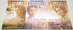 Author Janette Oke Three Book Bundle Set of the Loves Comes Softly Series, Includes: #6 Love's Unfolding Dream - #7 Love Takes Wing - #8 Love Finds a Home by Jeanette Oke http://www.amazon.com/dp/B00RY08U8I/ref=cm_sw_r_pi_dp_vHBRub0G5JMKG