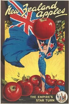 Poster, 'New Zealand Apples' - Museum of New Zealand Te Papa Tongarewa (www.tepapapicturelibrary.co.nz)