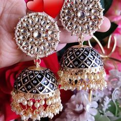 We ship worldwide Dm to order Payment mode-pYou can fin. Indian Earrings, Wedding Jewelry, Crochet Earrings, Bags, Accessories, Stuff To Buy, Instagram, February, Ship