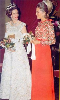 Queen Fabiola and Queen Paola