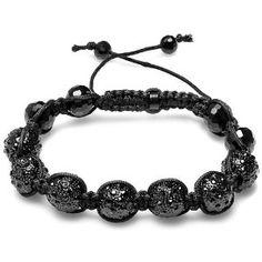 Mens Hip Hop Style Pave Seven 11mm Crystal Black Disco Balls Bracelet