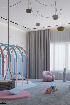 This one-of-a-kind project is a playroom, especially made for kids to have fun and learn!