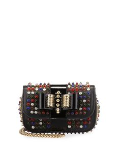 Christian Louboutin Sweety Charity Studded Crossbody Çanta - Siyah