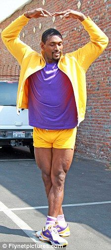 Ron Artest rehearses for Dancing with the Stars.