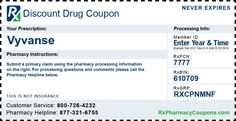 Vyvanse discount coupons