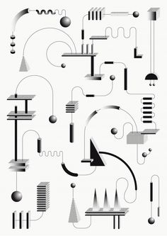 The graphic mechanics of Sophie Douala - - Graphisches Design, Book Design, Carta Collage, Portfolio Design, Graphic Pattern, Illustrations And Posters, Graphic Design Inspiration, Daily Inspiration, Design Process