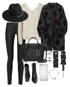 """""""Untitled #1951"""" by ritavalente ❤ liked on Polyvore featuring Acne Studios, River Island, Zara, Very Volatile, Botkier, BeckSöndergaard, Topshop, Kate Spade, Yves Saint Laurent and women's clothing"""