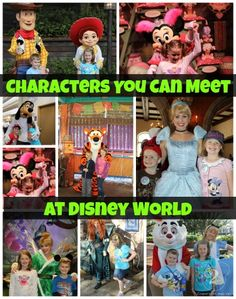 You Can Meet at Walt Disney World Complete List of the Characters You Can Meet at Disney World. There are over 50 characters that meet everyday!Complete List of the Characters You Can Meet at Disney World. There are over 50 characters that meet everyday! Disney World 2015, Disney 2015, Disney World Florida, Disney World Planning, Walt Disney World Vacations, Disneyland Vacation, Florida Vacation, Disney Parks, Disney World Tips And Tricks