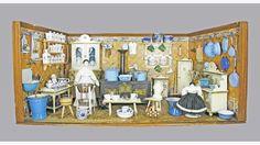 Antike Puppenküche um 1910