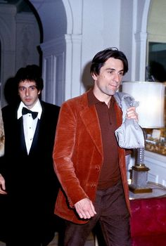 Al Pacino and Robert De Niro candid, c. early 1980s