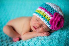 baby girl hat newborn girl hat crochet girls por VioletandSassafras