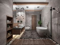 """""""Browse photos of Small Bathroom Tile Design. Find suggestions and inspiration for Small Bathroom Tile Design to enhance your house. Interior Design Minimalist, Contemporary Interior Design, Modern Bathroom Design, Bathroom Interior Design, Bath Design, Spa Design, Interior Modern, Minimal Bathroom, Contemporary Bathrooms"""