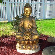 Sunnydaze Relaxed Buddha Garden Fountain - 73659-FC