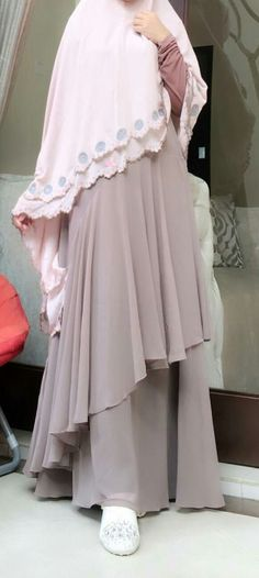 Combination color baby pink and soft mocca