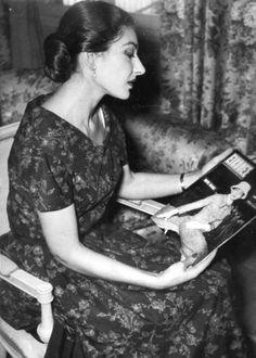 Maria Callas in Grecia, 1957.
